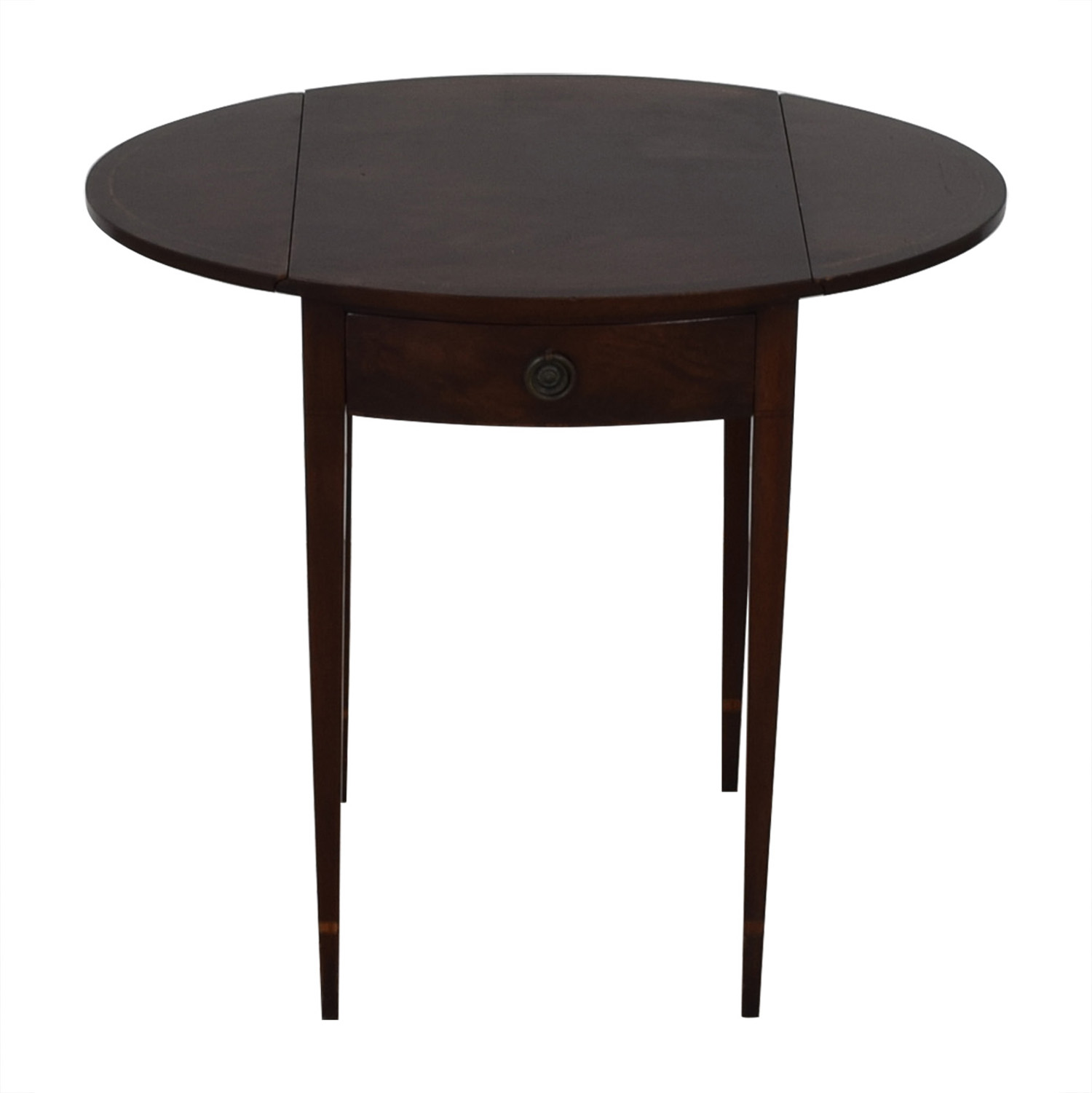 Beacon Hill Collection Beacon Hill Collection Oval Drop Leaf Accent Table second hand