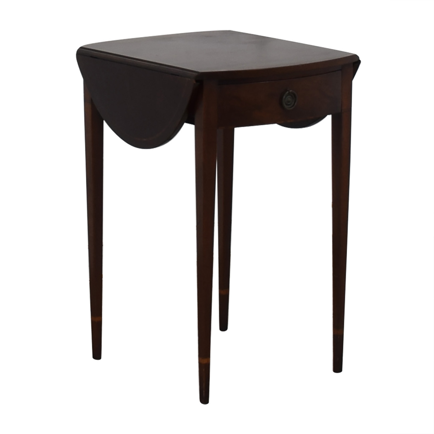 shop Beacon Hill Collection Oval Drop Leaf Accent Table Beacon Hill Collection