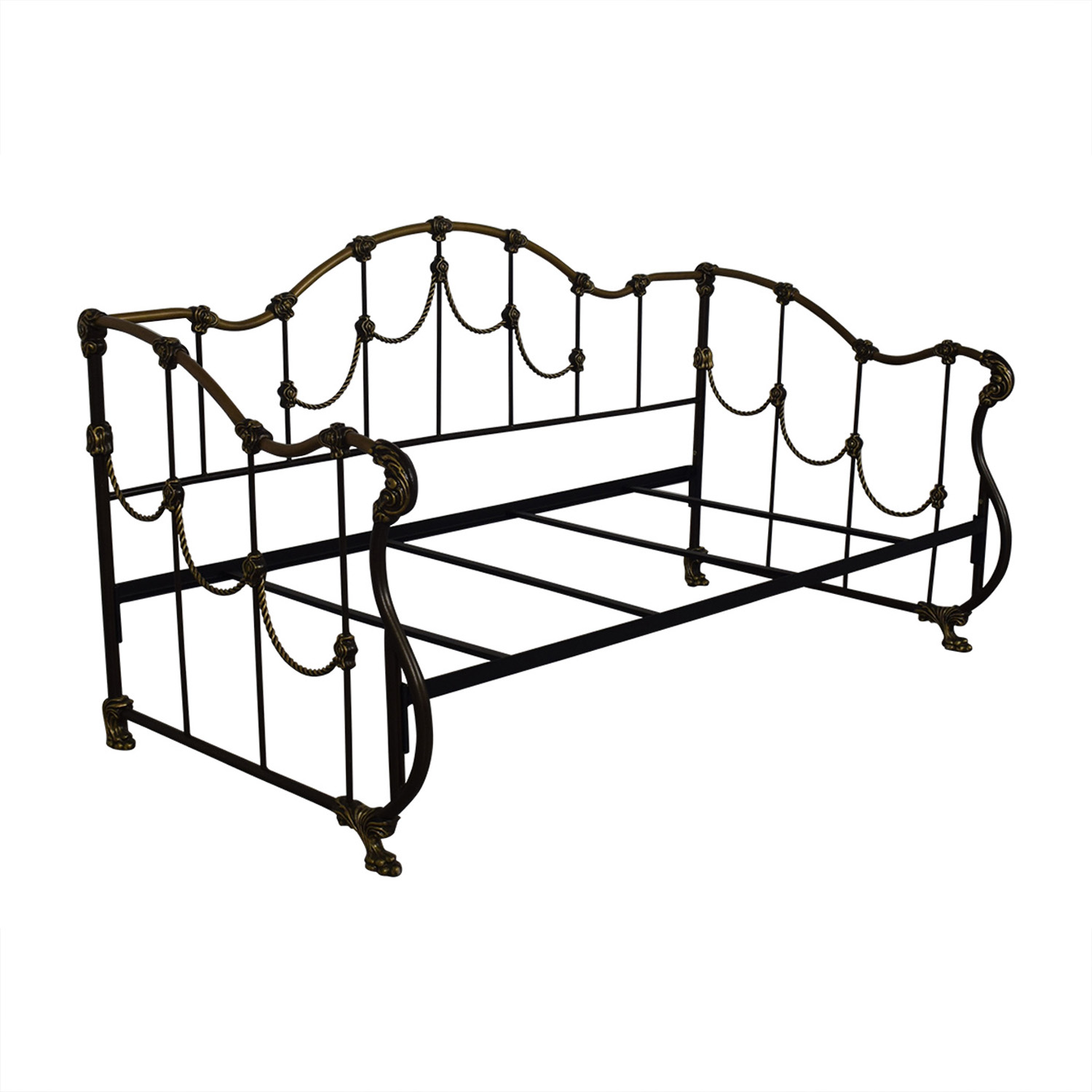 Gold and Black Metal Twin Day Bed / Bed Frames