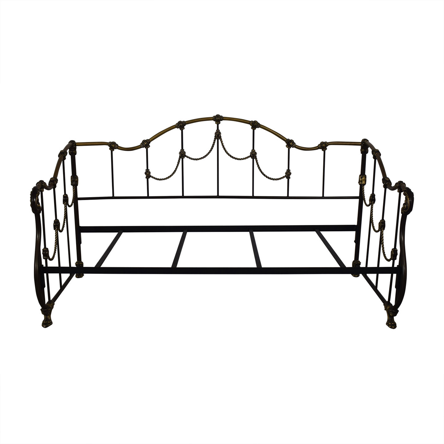 Gold and Black Metal Twin Day Bed discount