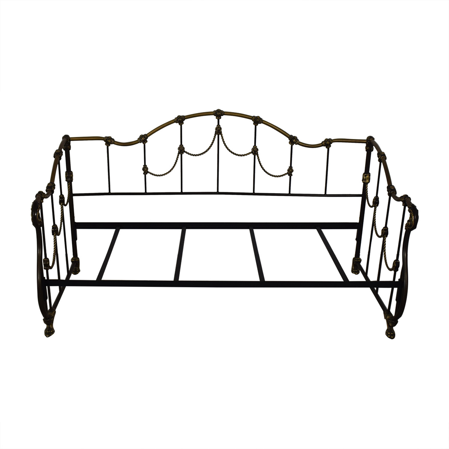 Gold and Black Metal Twin Day Bed