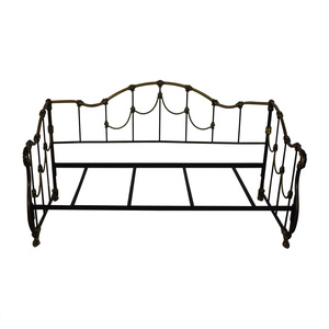 shop Gold and Black Metal Twin Day Bed