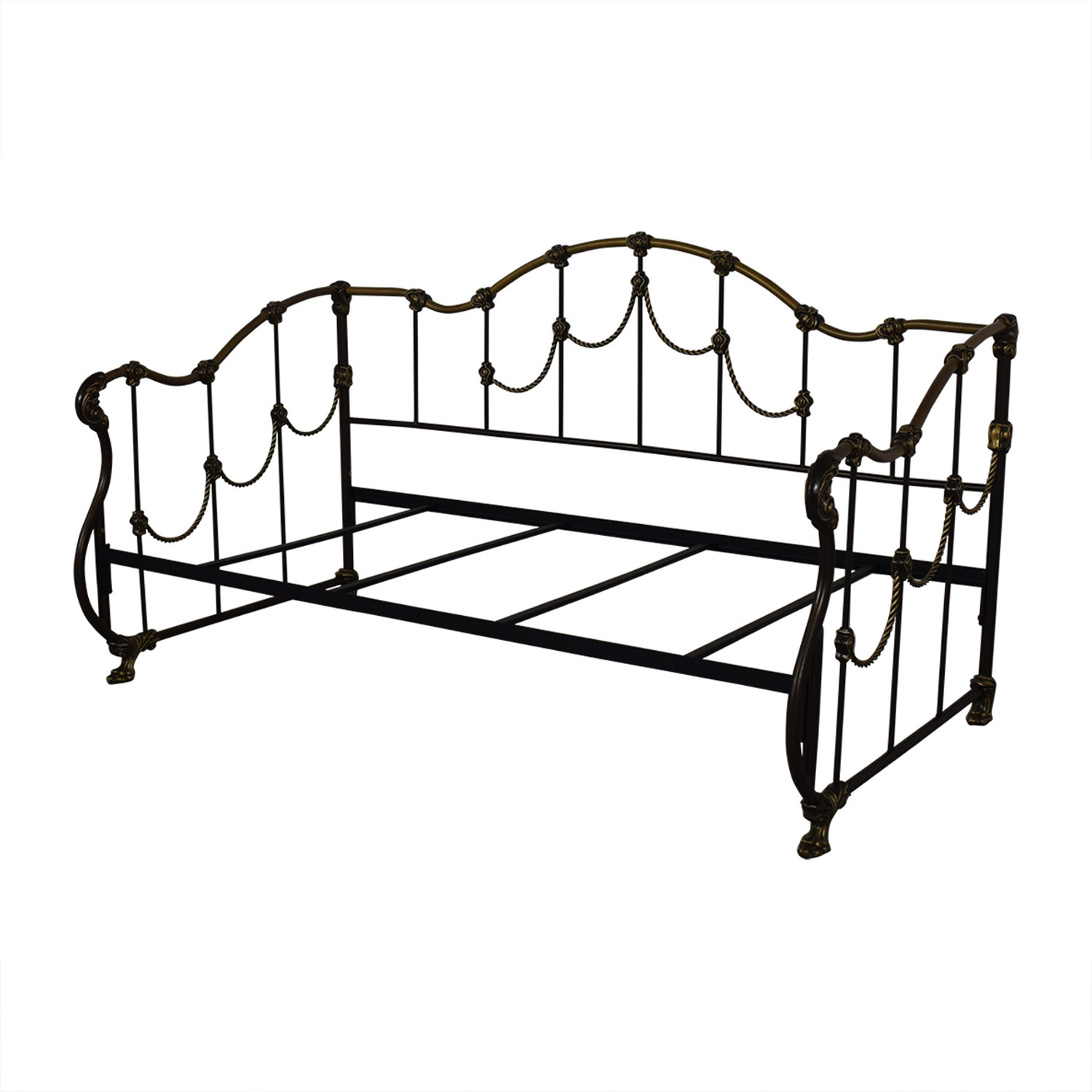 80 Off Gold And Black Metal Twin Day Bed Beds