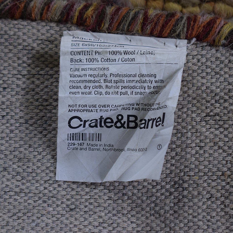 Crate & Barrel Mackenzie Area Rug / Decor
