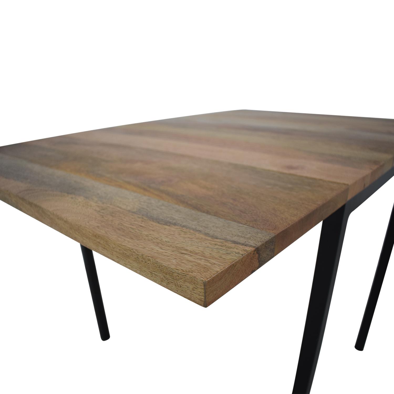 West Elm West Elm Box Frame Drop Leaf Expandable Table discount