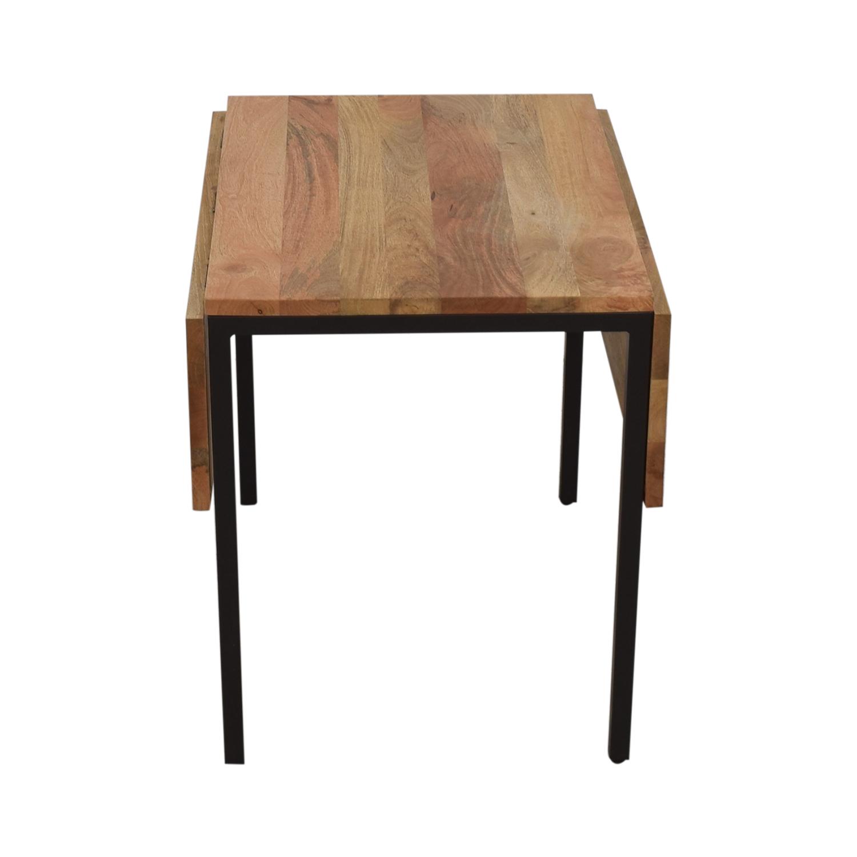 West Elm Box Frame Drop Leaf Expandable Table / Tables