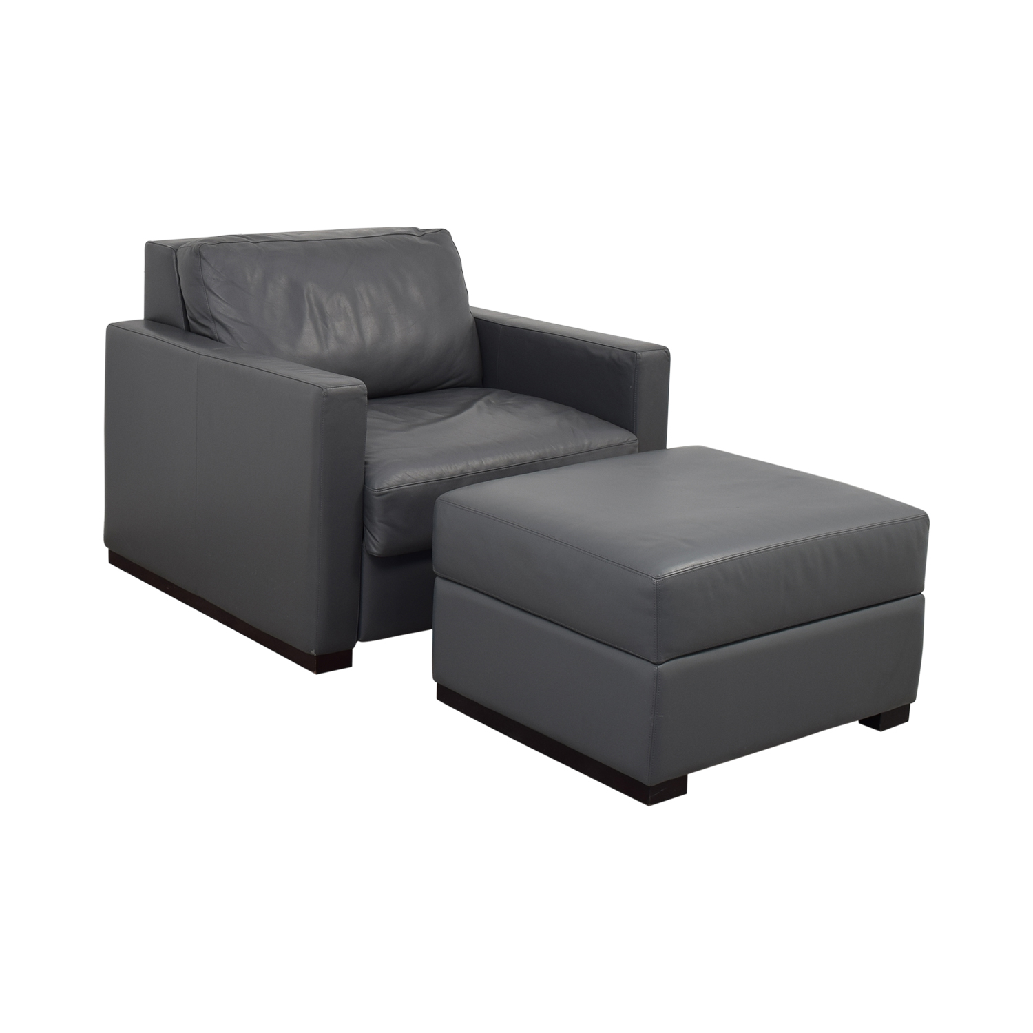 shop Design Within Reach Grey Accent Chair and Ottoman Design Within Reach
