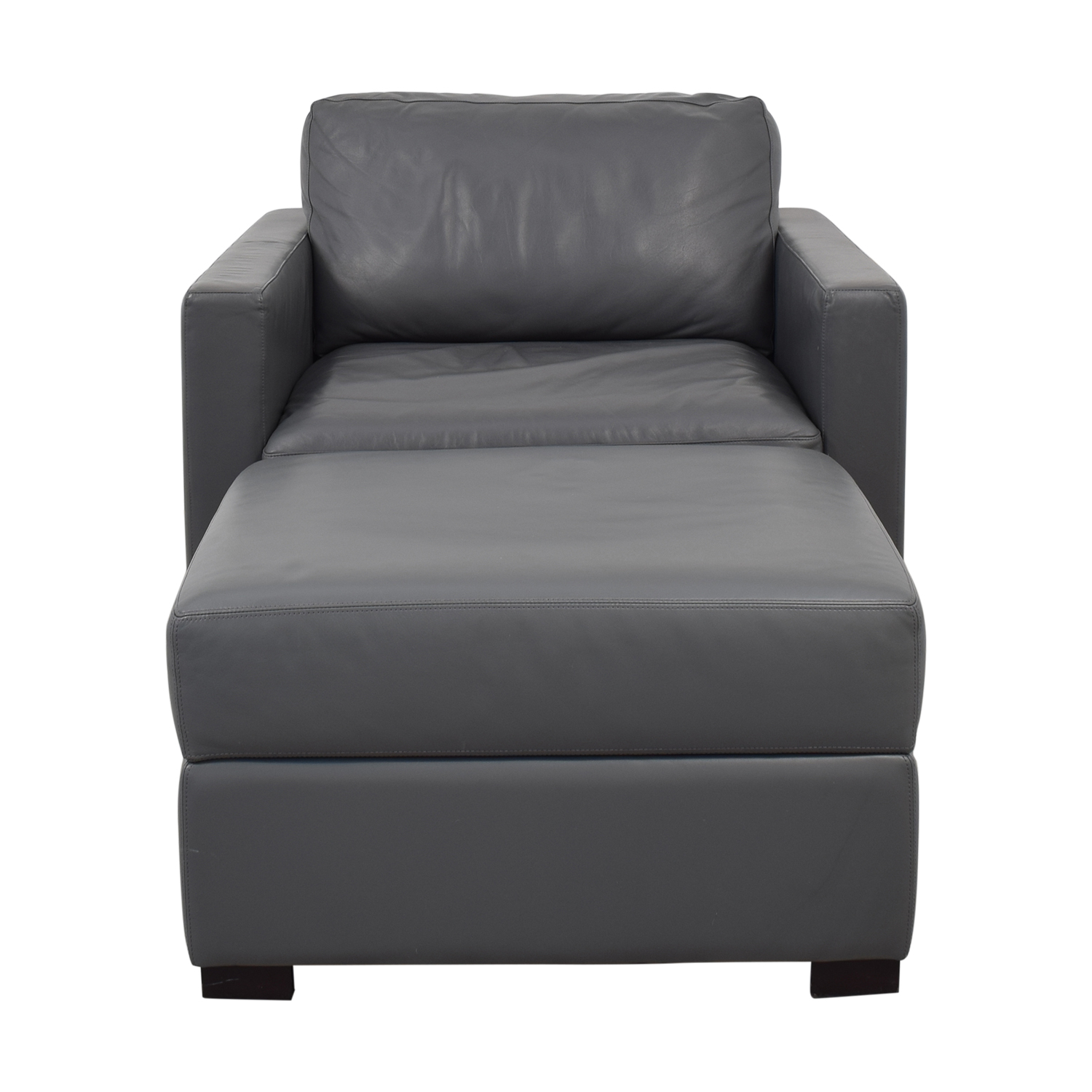 shop Design Within Reach Design Within Reach Grey Accent Chair and Ottoman online