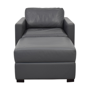 Design Within Reach Design Within Reach Grey Accent Chair and Ottoman discount