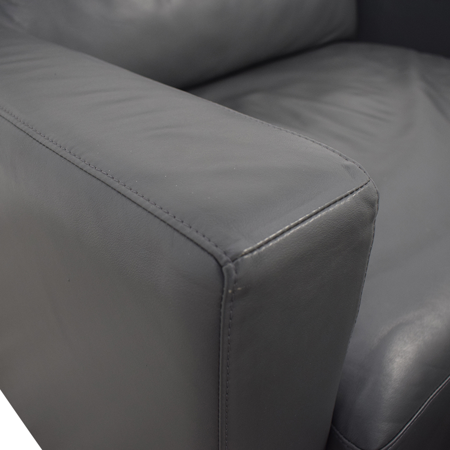 Design Within Reach Grey Accent Chair and Ottoman / Accent Chairs