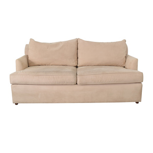 Ethan Allen Ethan Allen Beige Two-Cushion Sofa nyc