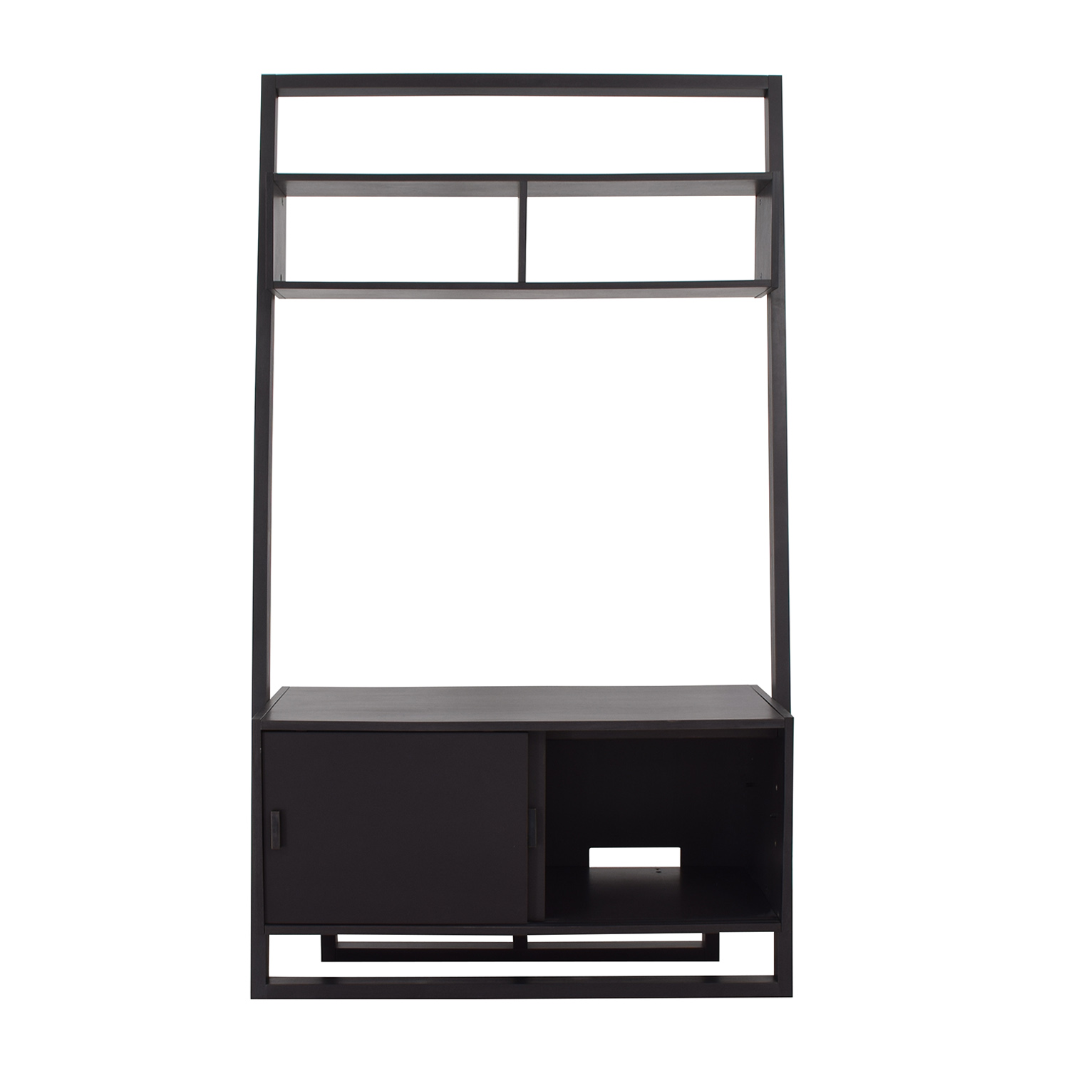shop Crate & Barrel Sloane Leaning Media Stand Crate & Barrel Media Units