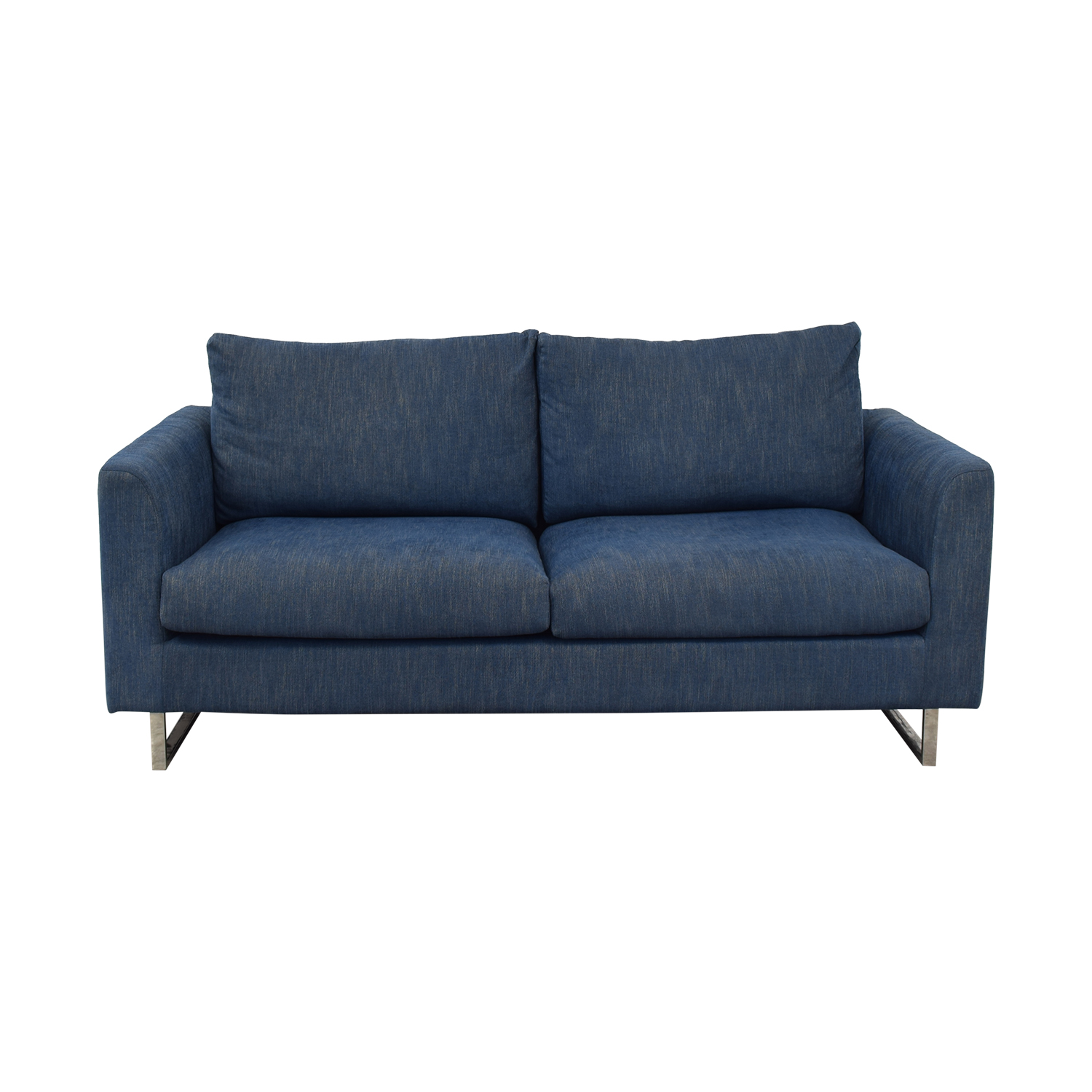 shop Owens Blue Two-Cushion Sofa Interior Define Sofas