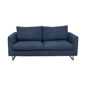 Interior Define Owens Blue Two-Cushion Sofa Sofas