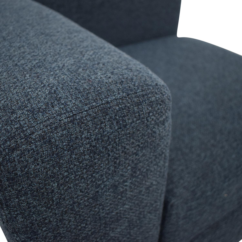 Interior Define Toby Corner Chair Dark Blue