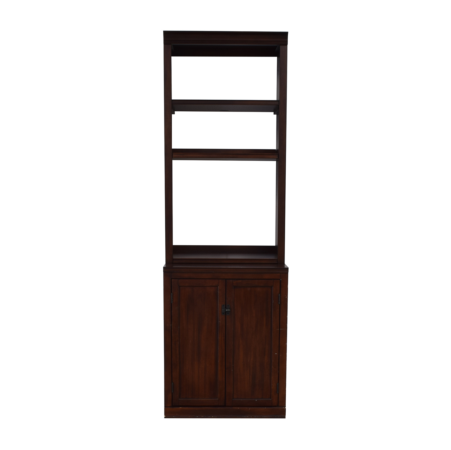 shop Pottery Barn Bookcase with Storage Cabinet Pottery Barn