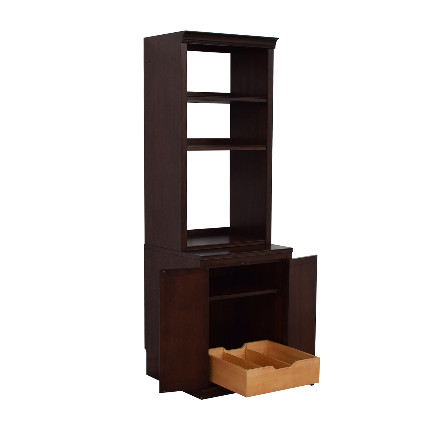 Pottery Barn Pottery Barn Bookcase with Storage Cabinet brown