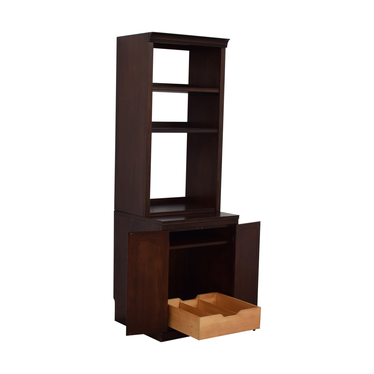 Pottery Barn Pottery Barn Bookcases with Storage Cabinet dimensions