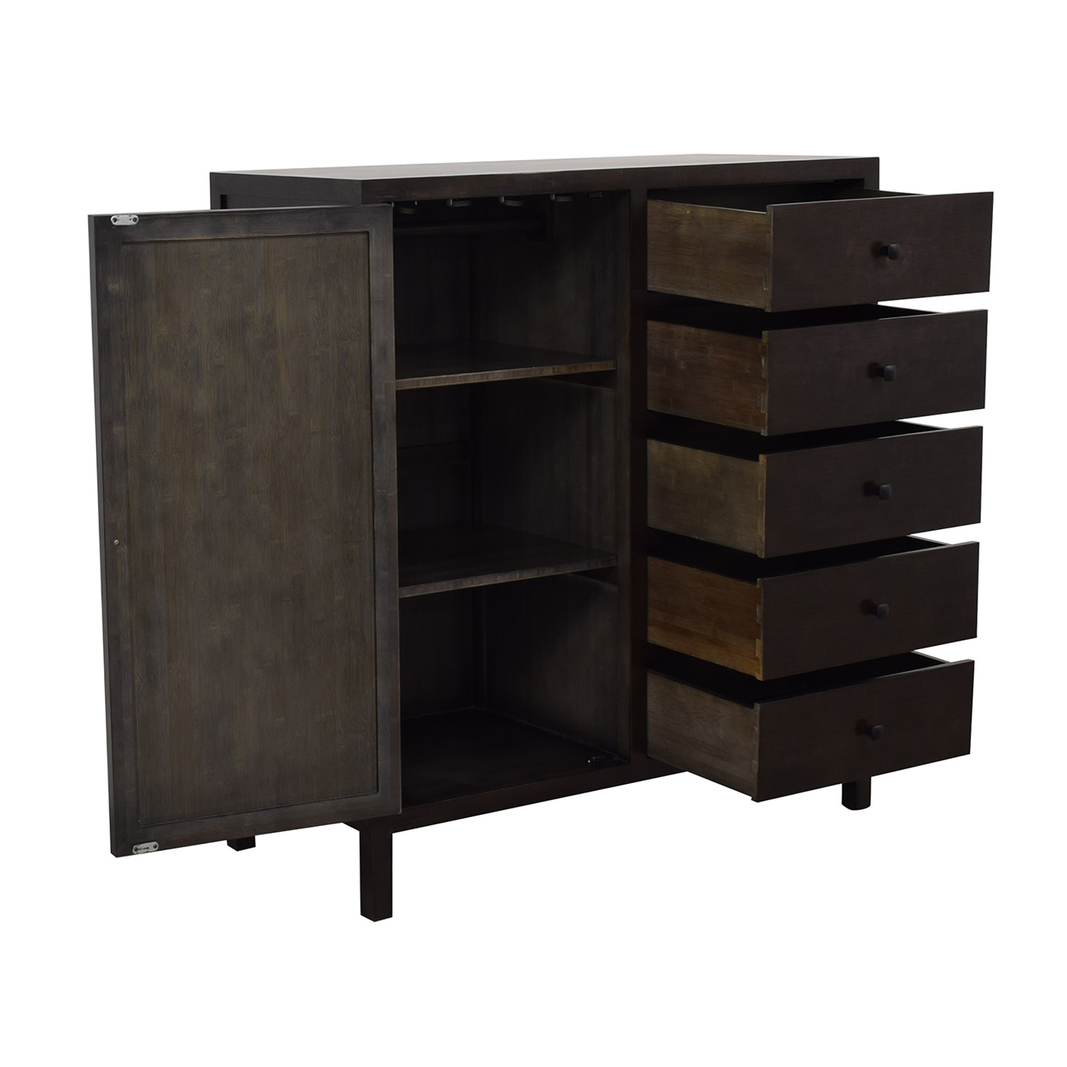 shop Crate & Barrel Maria Yee Five-Drawer Armoire Crate & Barrel Storage