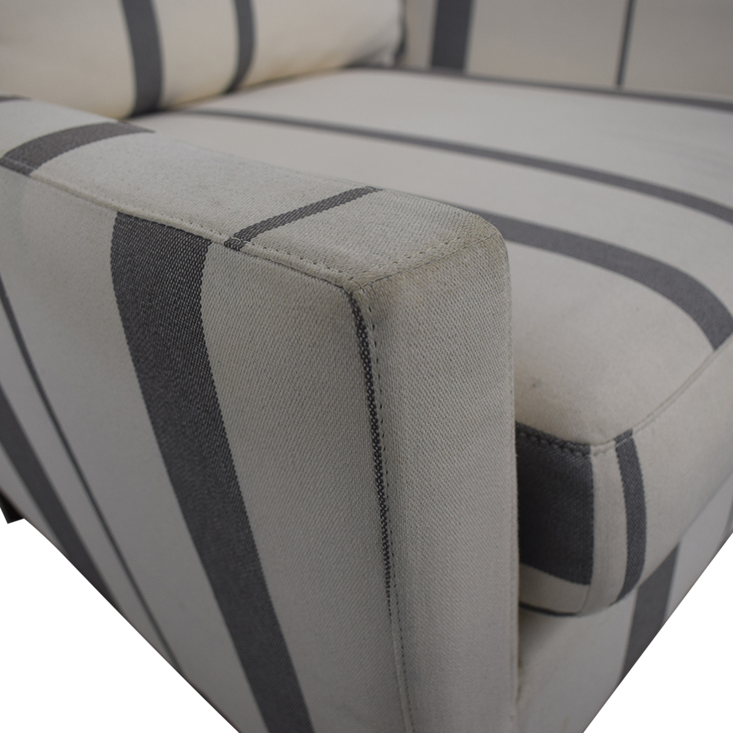 West Elm West Elm Everett Grey and White Striped Accent Chair used