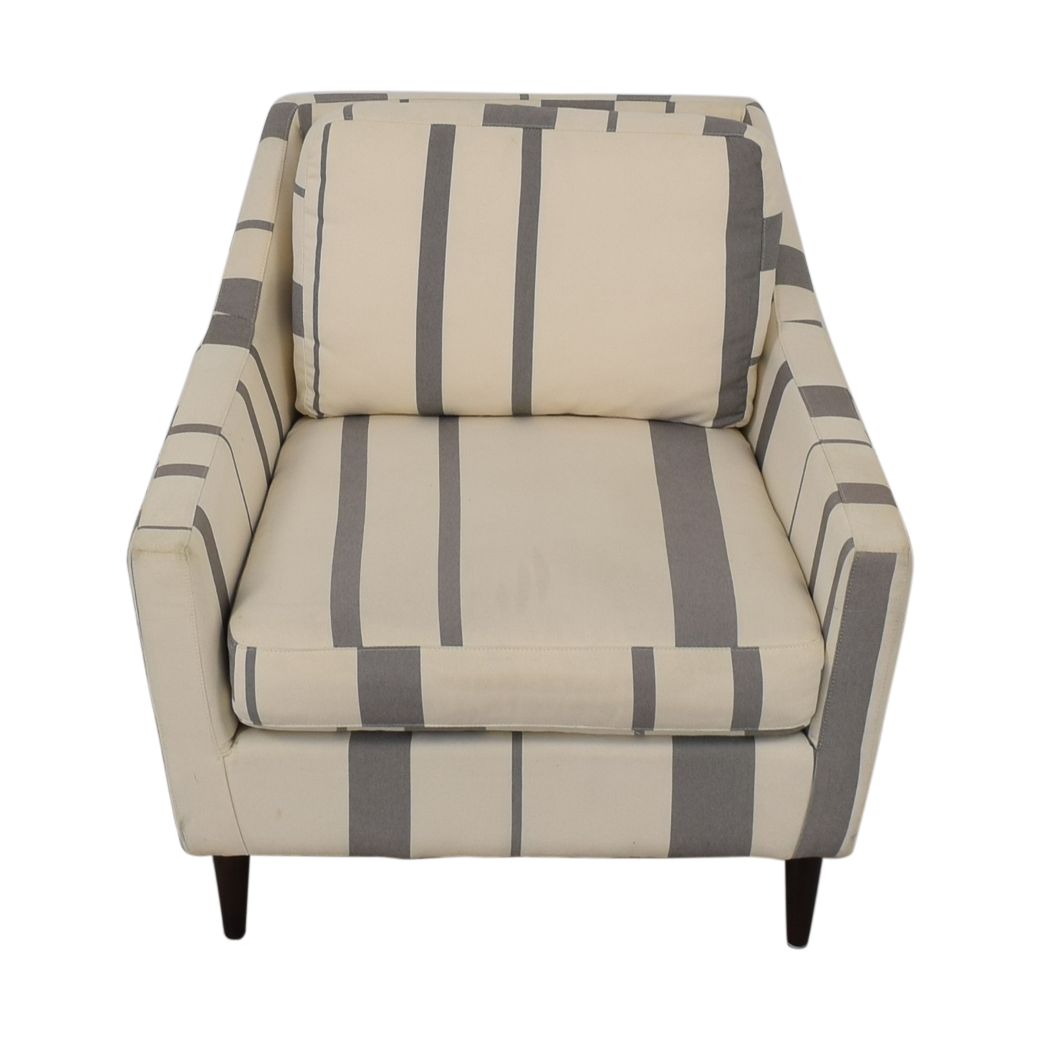 West Elm West Elm Everett Grey and White Striped Accent Chair nj