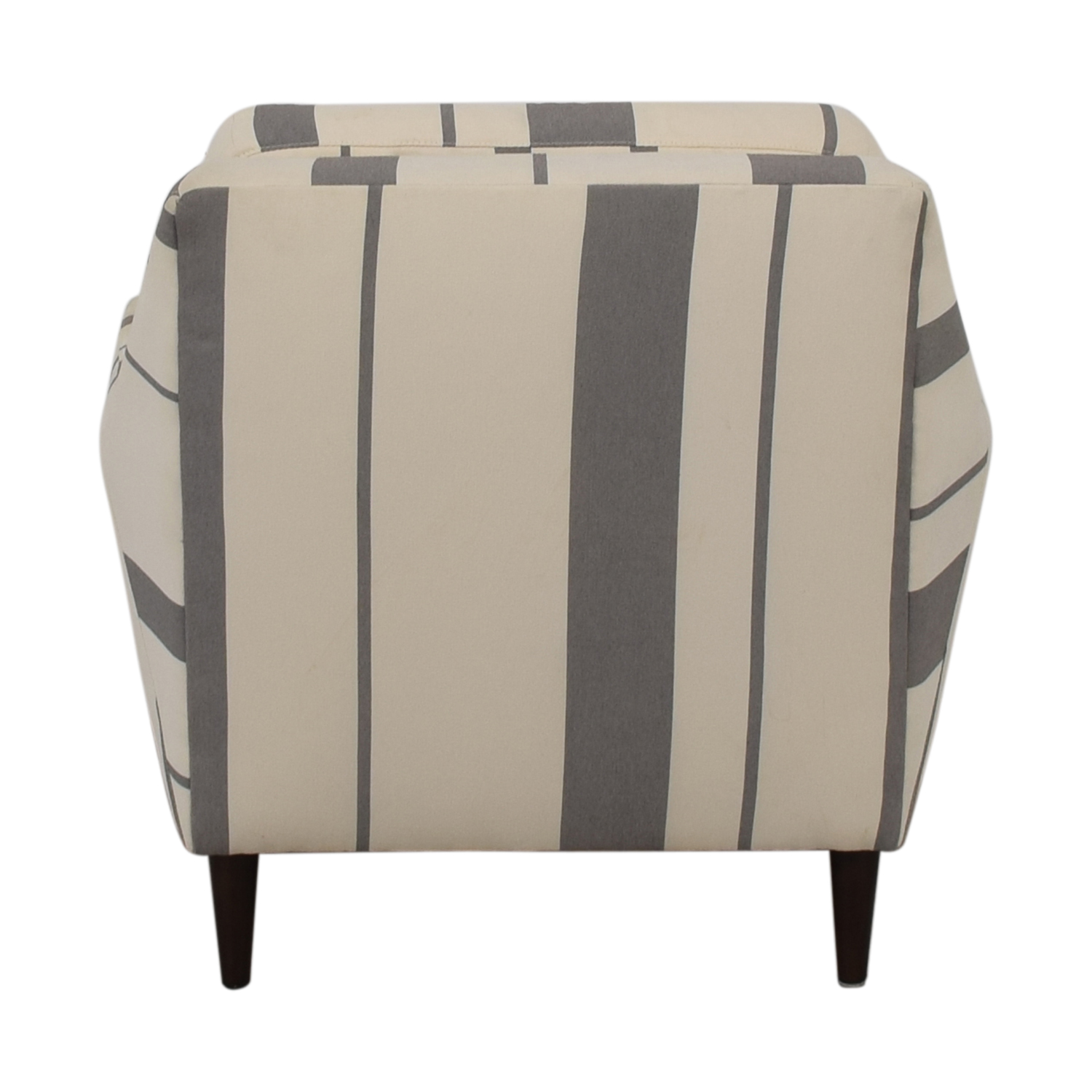 West Elm Everett Grey and White Striped Accent Chair West Elm