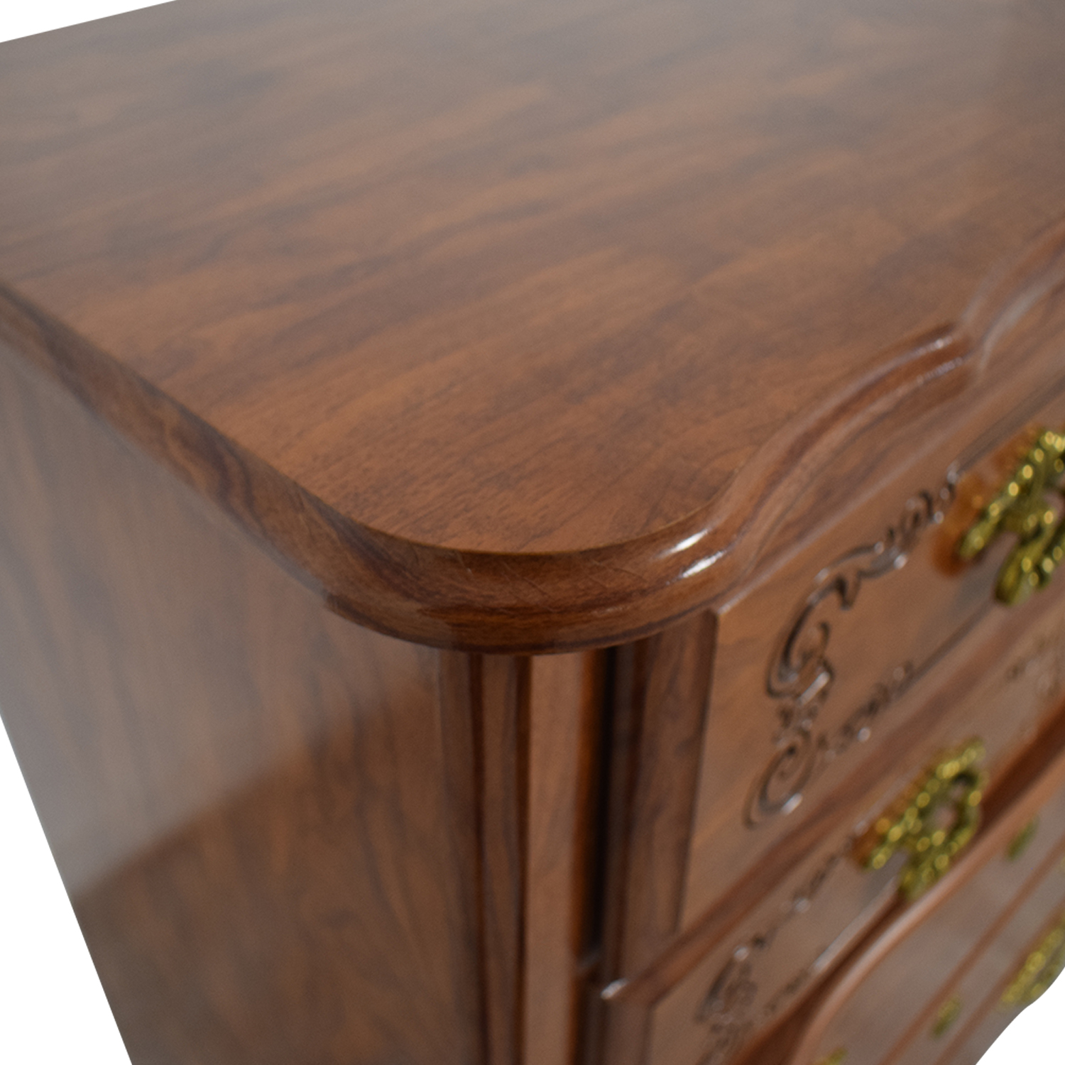 Wood Five-Drawer Tall Chest of Drawers