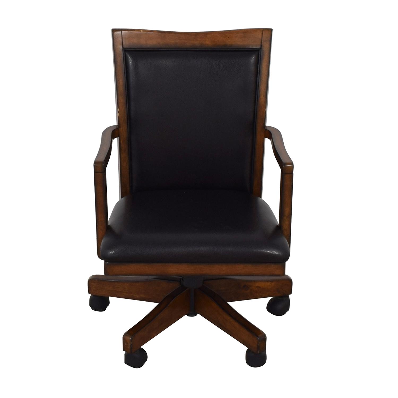 Black Desk Chair on Castors discount