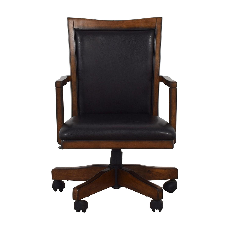 Black Desk Chair on Castors / Chairs