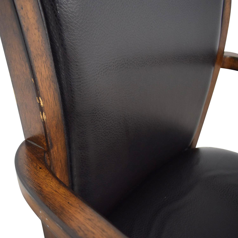 shop Black Desk Chair on Castors  Accent Chairs