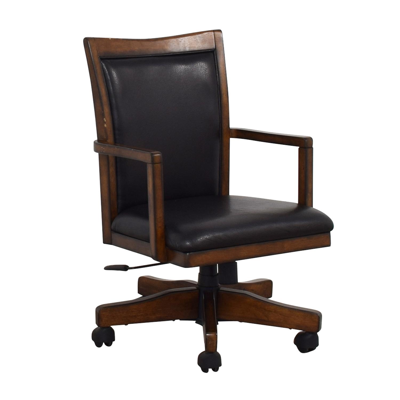 Black Desk Chair on Castors Chairs
