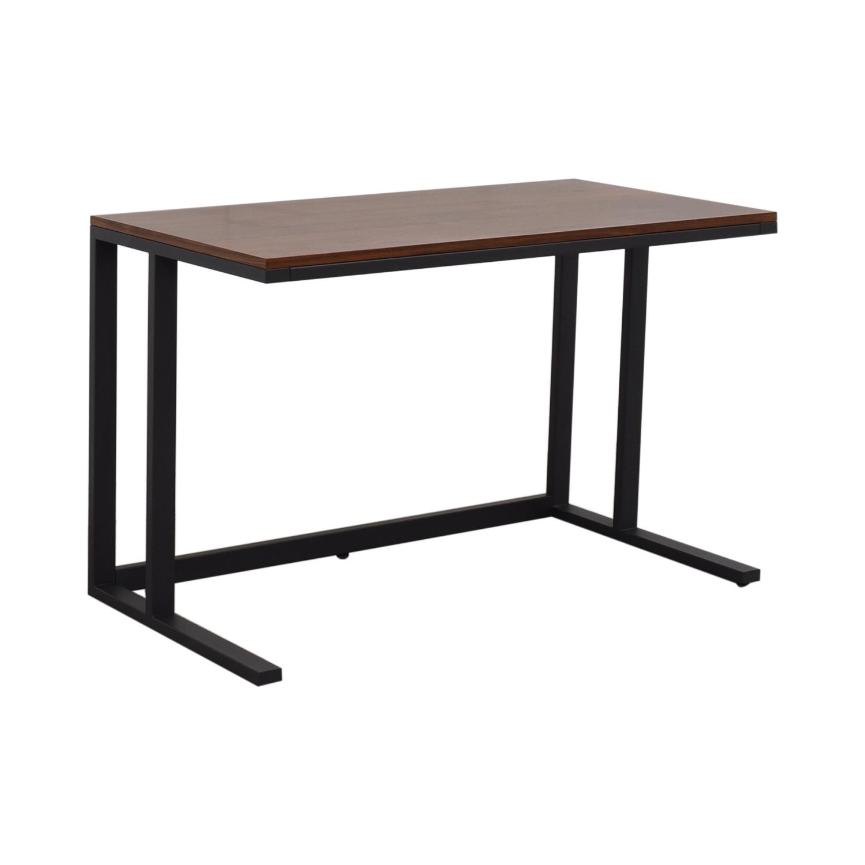 buy Crate & Barrel Pilsen Graphite Desk Crate & Barrel Home Office Desks