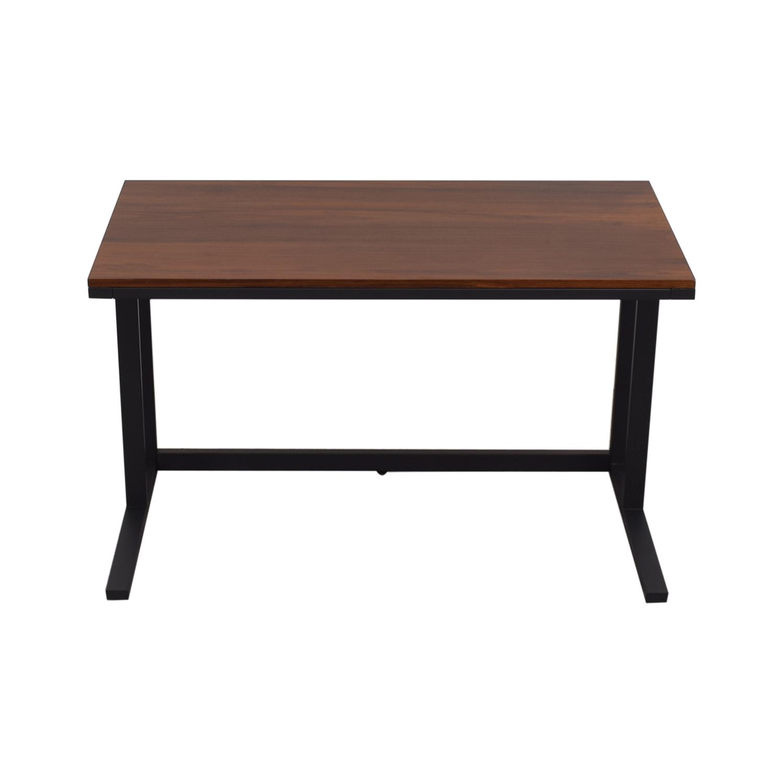 Crate & Barrel Crate & Barrel Pilsen Graphite Desk for sale