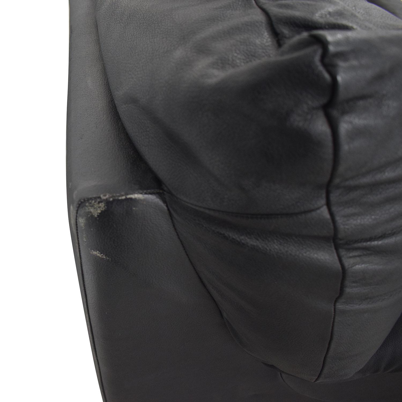 Black Three-Cushion Convertible Full Sleeper Sofa price