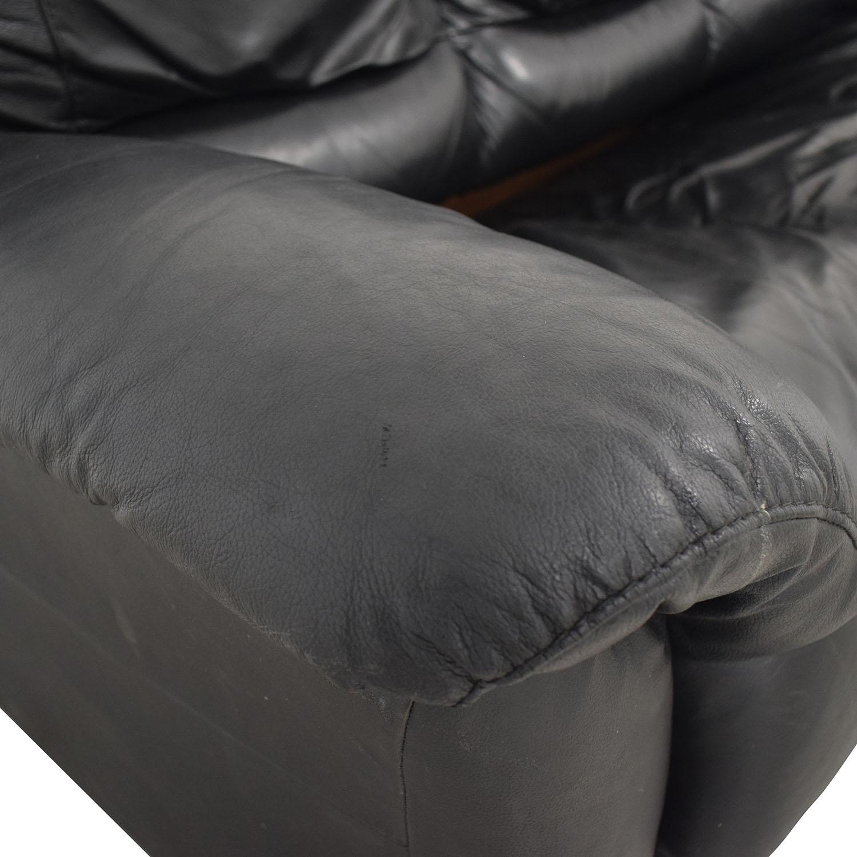 shop Black Three-Cushion Convertible Full Sleeper Sofa