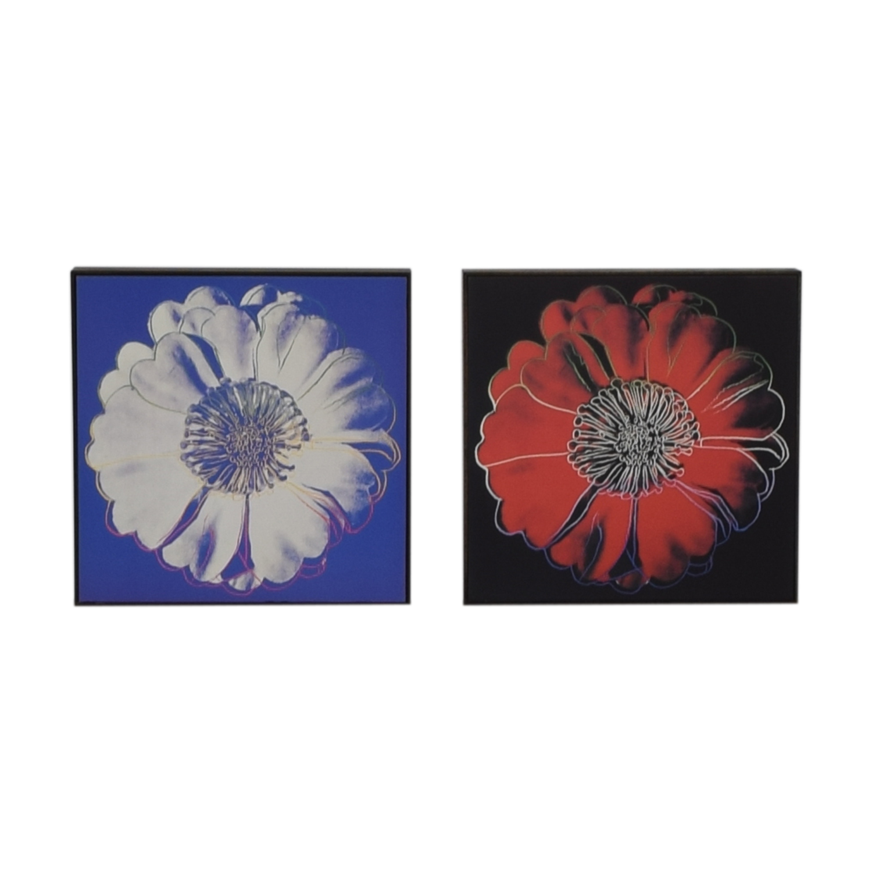 Andy Warhol Framed Flower Prints nj