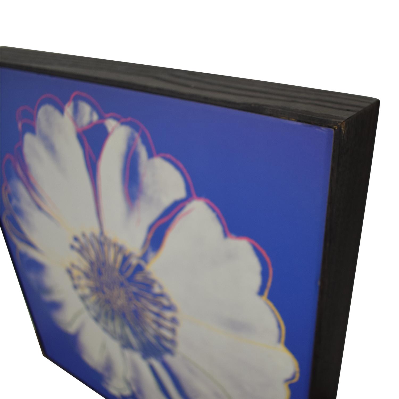 Andy Warhol Framed Flower Prints Decor