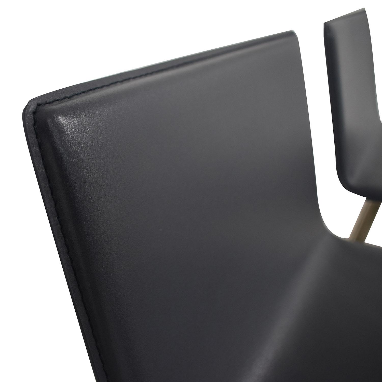 CB2 CB2 Phoenix Carbon Grey Stools Chairs