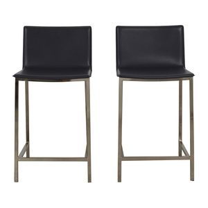 CB2 CB2 Phoenix Carbon Grey Stools second hand