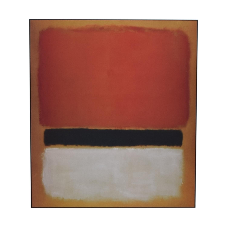 Framed Rothko Print Decor