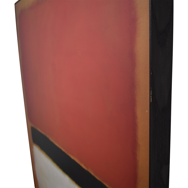 Framed Rothko Print / Decor