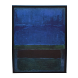 buy Rothko Blue and Green Framed Print  Decor