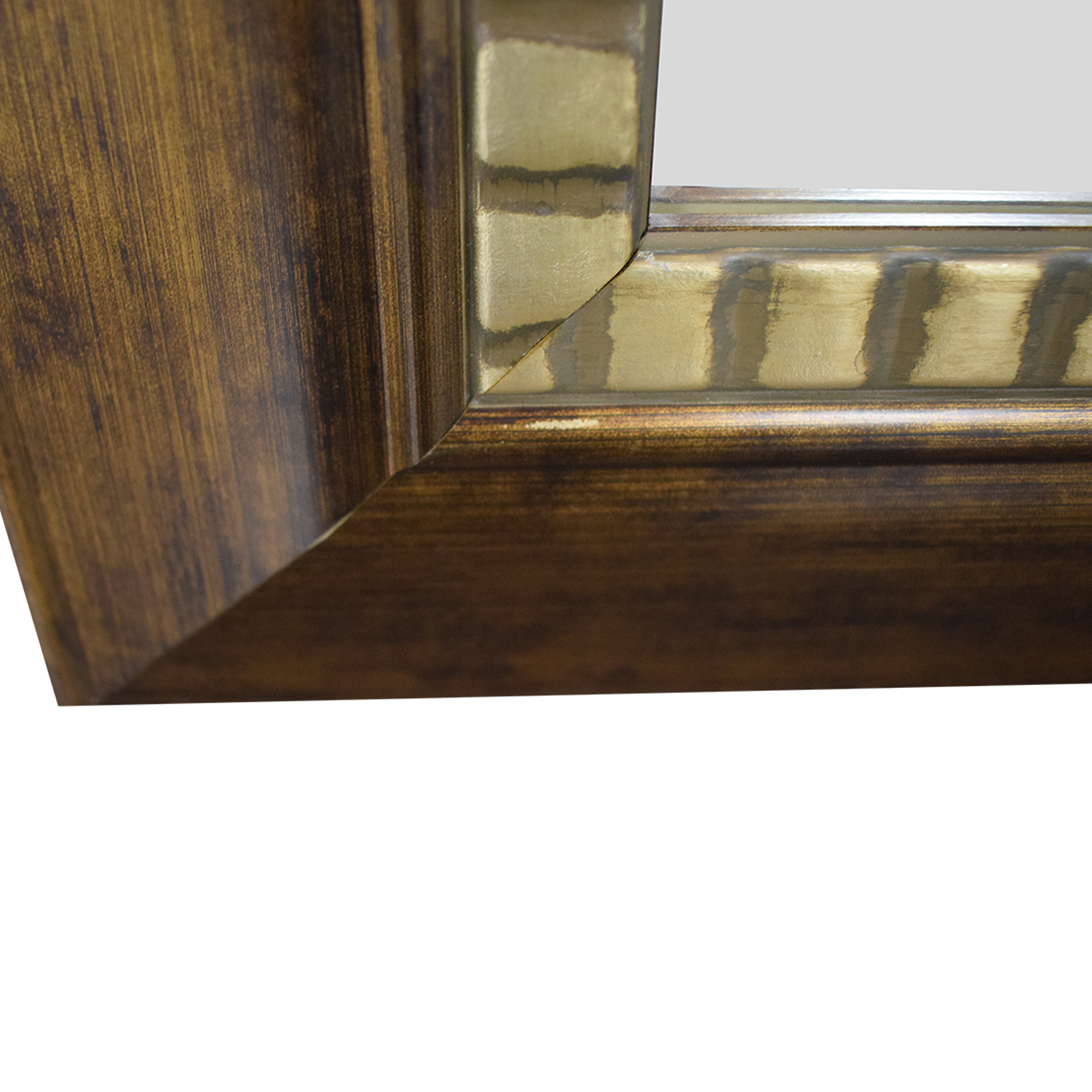 Distressed Framed Wall Mirror / Mirrors