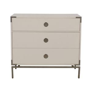 West Elm West Elm Malone Campaign White Lacquer Three-Drawer Dresser used