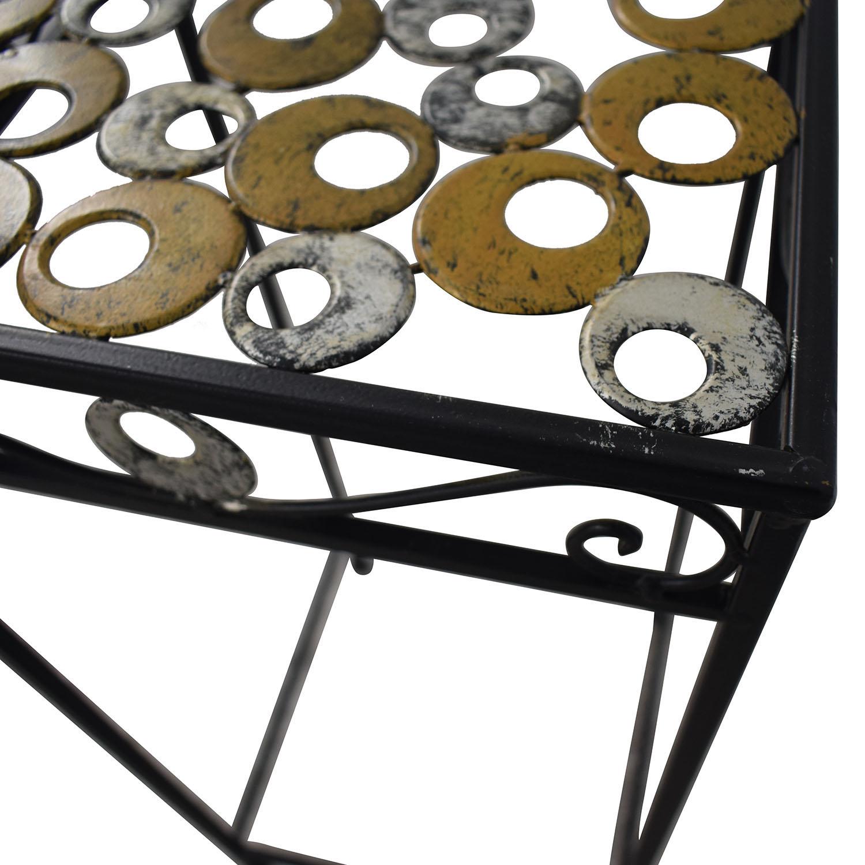 buy Scrolled Metal Side Table  Tables