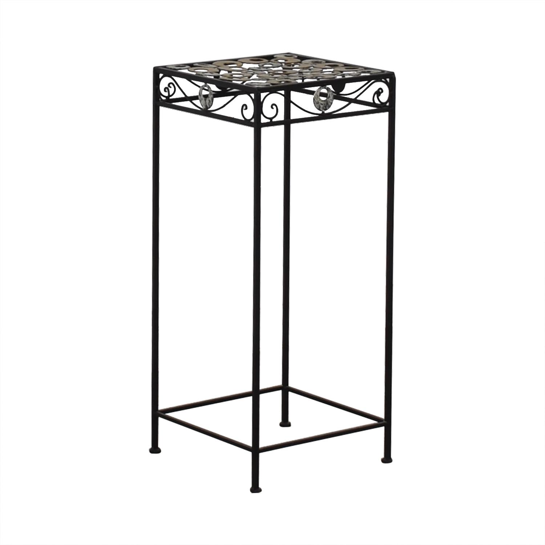 Scrolled Metal Side Table nyc
