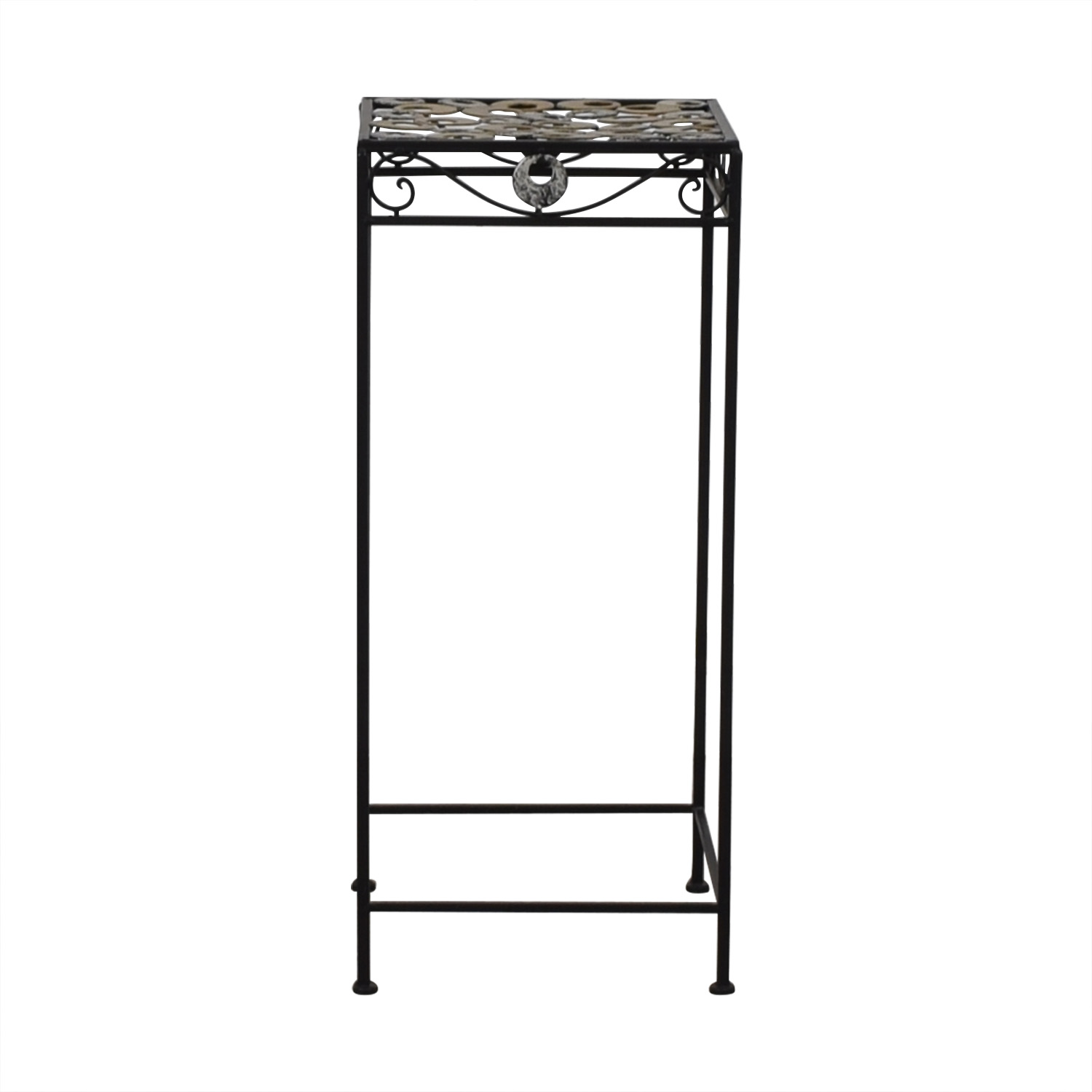 shop Scrolled Metal Side Table  Tables