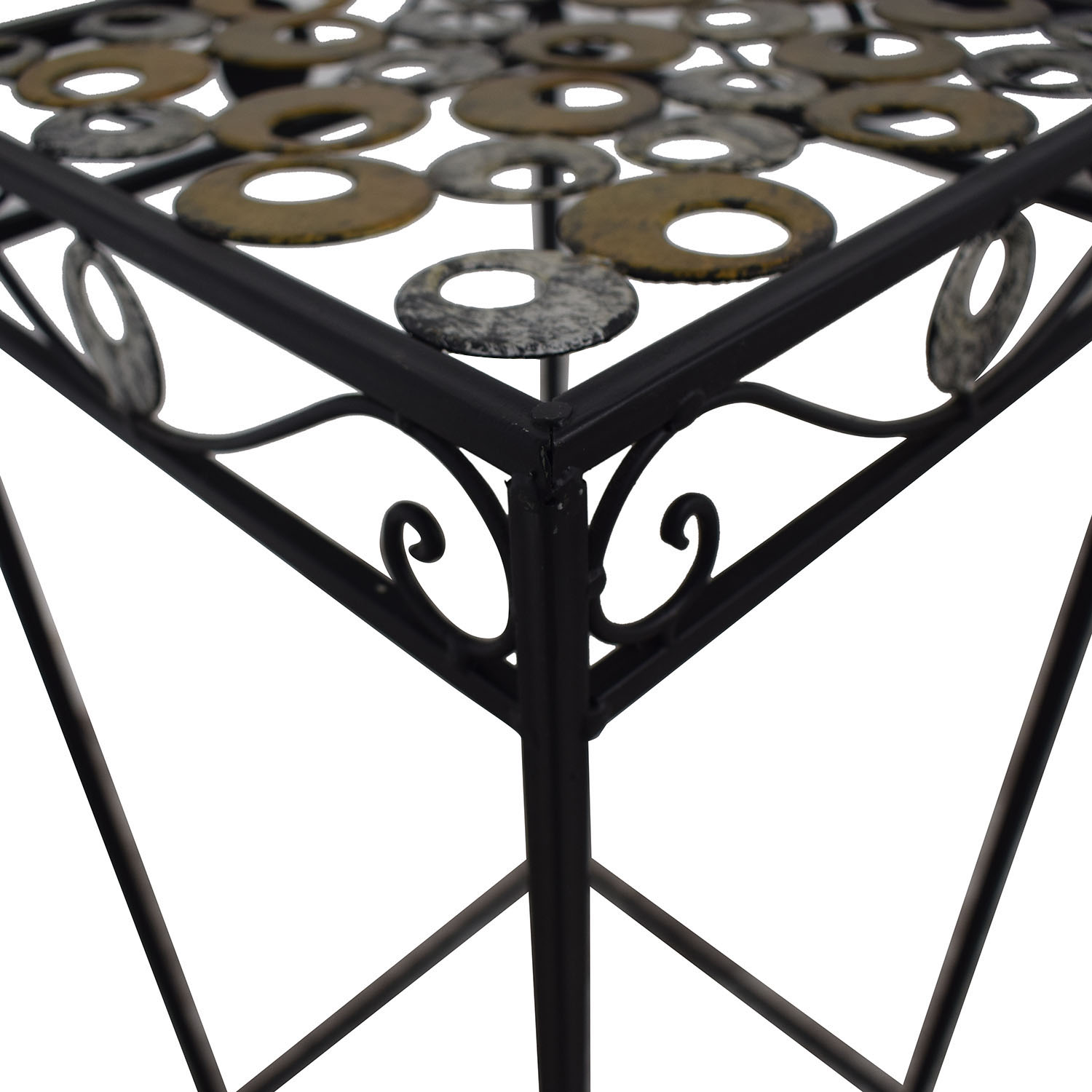Scrolled Metal Side Table coupon
