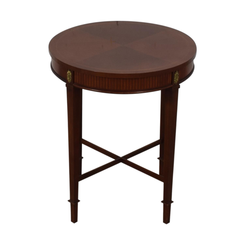 Baker Furniture Fl Embellished Side Table Price