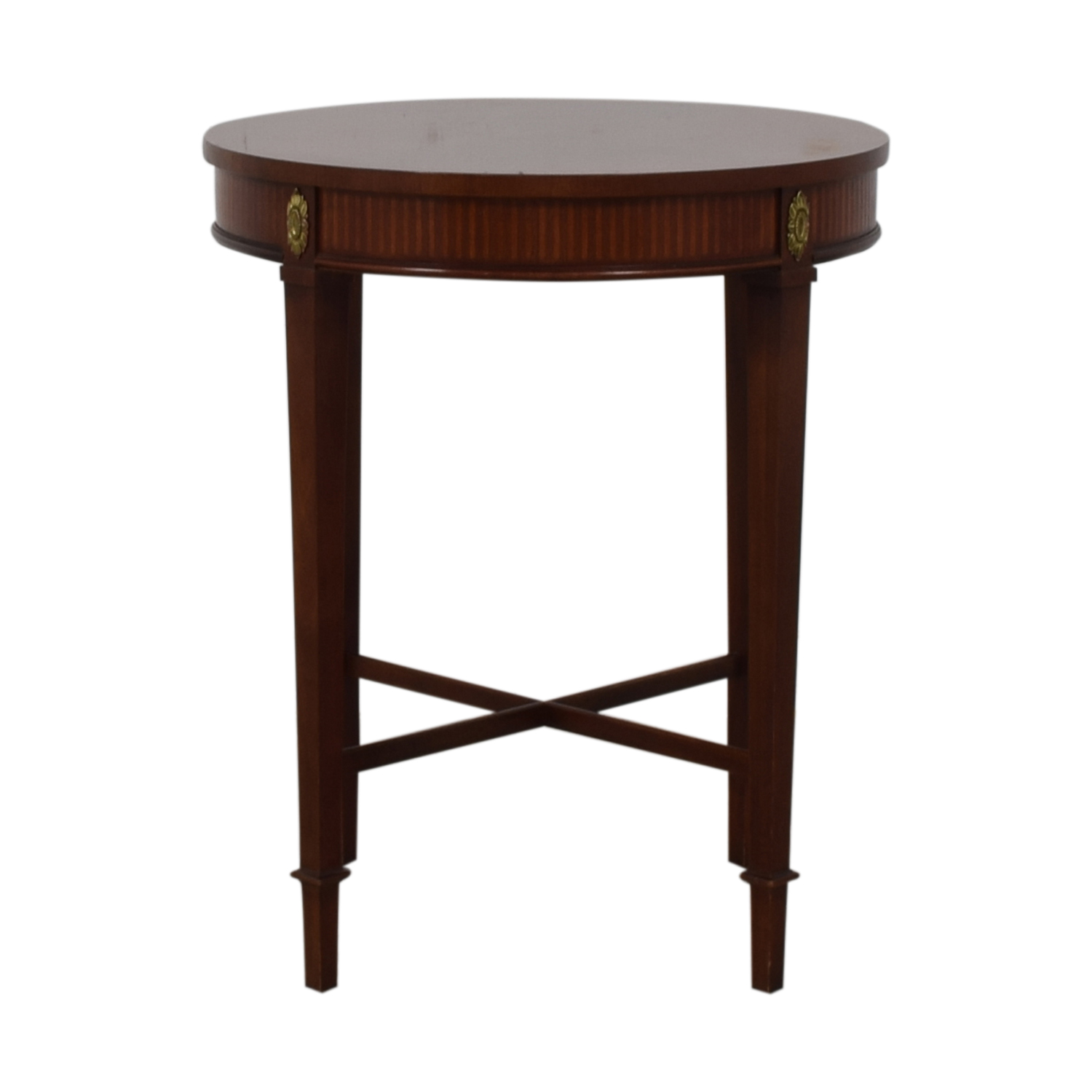 Baker Furniture Baker Furniture Floral Embellished Side Table on sale